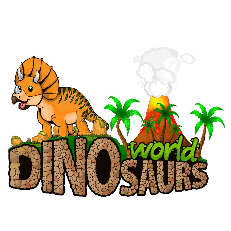 Logo Dinosaurs World royaltyfri illustrationer