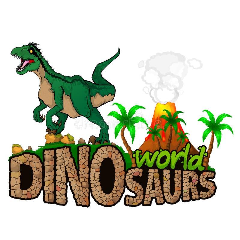 Logo Dinosaurs World illustration de vecteur
