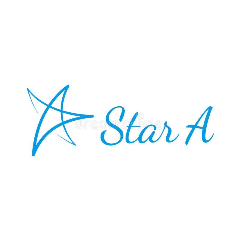 Logo disegnato a mano della stella di vettore fotografia stock libera da diritti