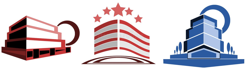 Logo dla architektów lub agentów nieruchomości ilustracja wektor