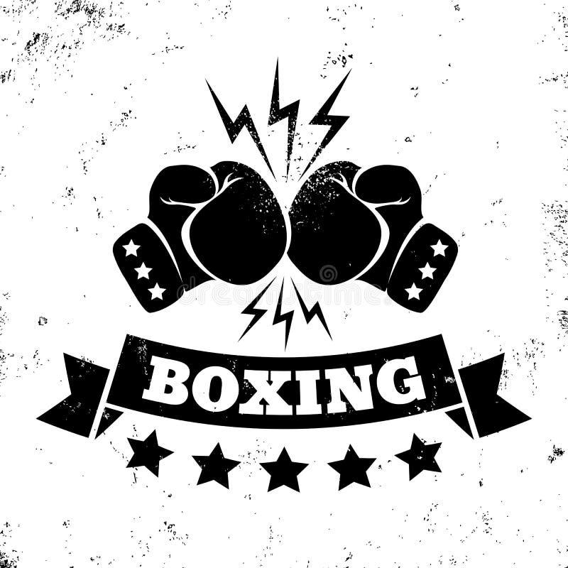 Logo dla boksu ilustracji