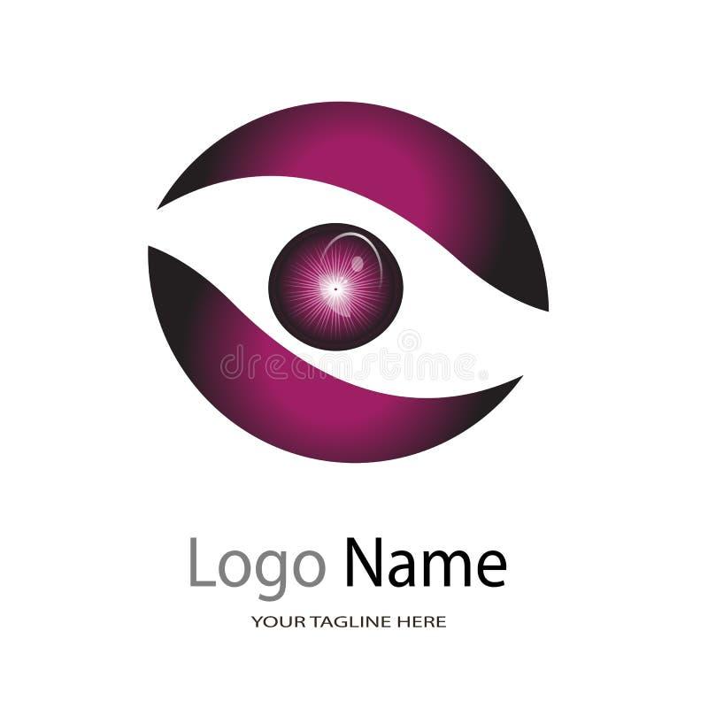 Logo dla oko szpitala, ilustracyjny logo na białym tle/oko opieki Centre, oko kliniki/ royalty ilustracja