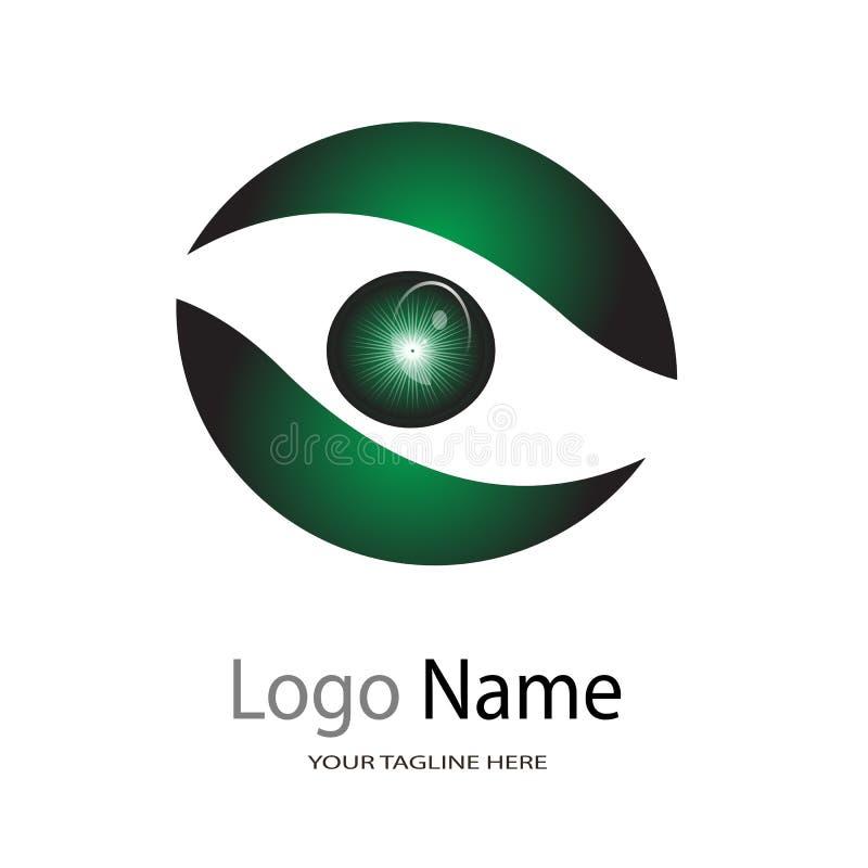 Logo dla oko szpitala, ilustracyjny logo na białym tle/oko opieki Centre, oko kliniki/ ilustracja wektor