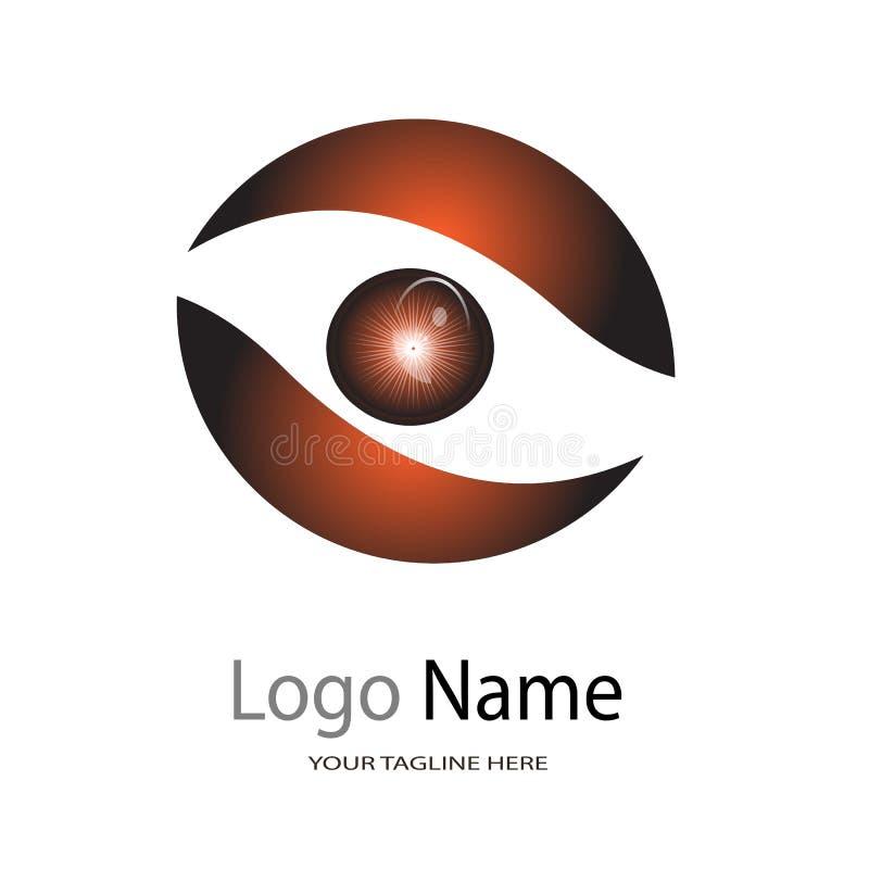 Logo dla oko szpitala, ilustracyjny logo na białym tle/oko opieki Centre, oko kliniki/ ilustracji