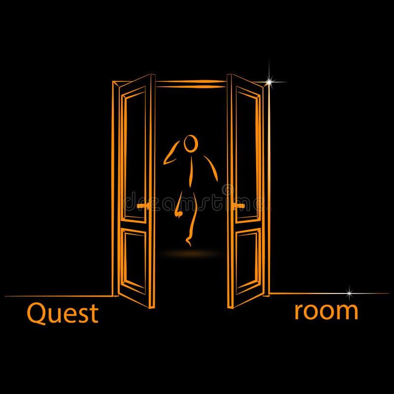 Logo dla poszukiwanie pokoju royalty ilustracja