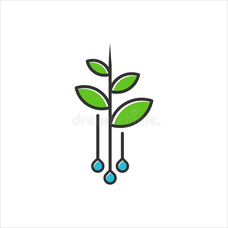Logo dla rolniczego royalty ilustracja