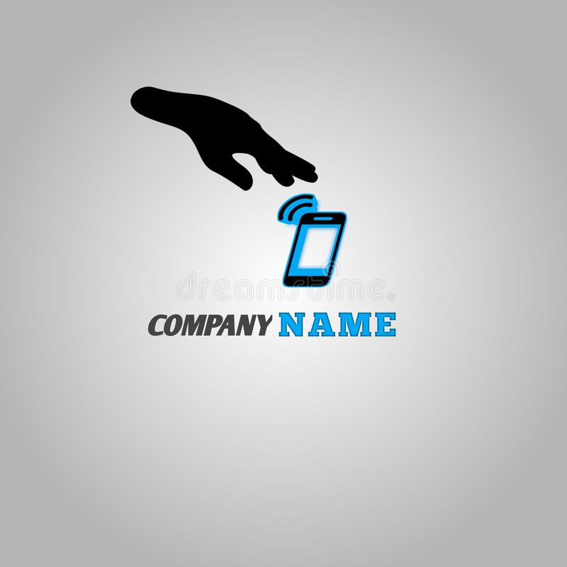 Logo dla telefon komórkowy firmy dla wszystkie ludzi obraz stock