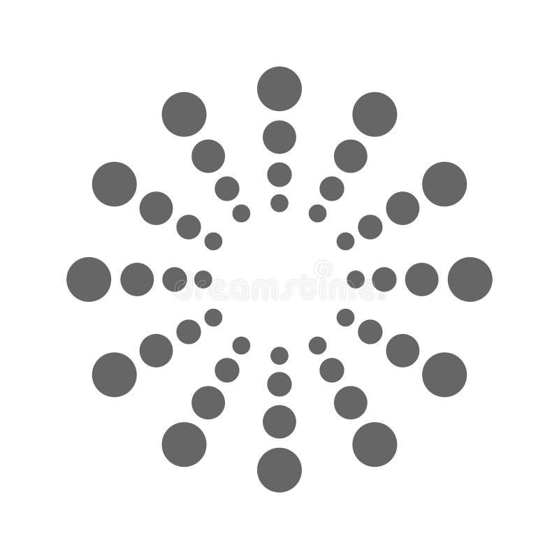 Logo dla twój gatunek kropek w okręgach royalty ilustracja
