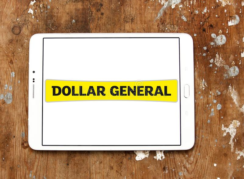 Dollar General retailer logo. Logo of Dollar General retailer on samsung tablet. Dollar General Corporation is an American chain of variety stores stock image