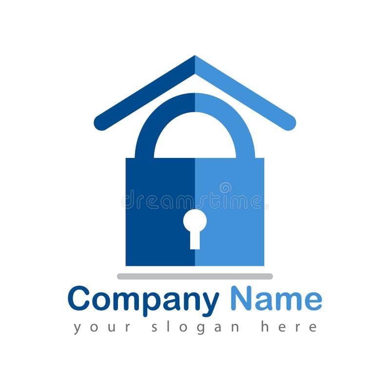 Logo domestico assicurato su bianco royalty illustrazione gratis