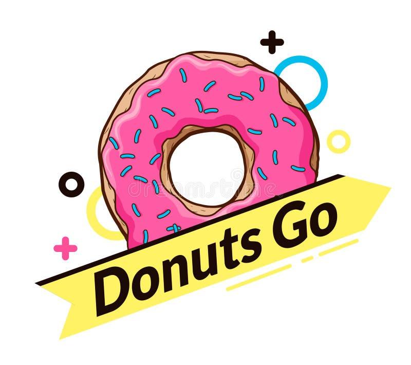 of donut logo  Logo With Donut. Dynamic Logo Stock Vector - Illustration of glazed ...