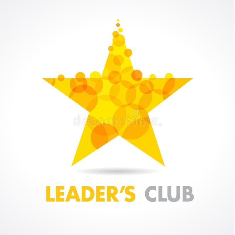 Logo dorato di forma della stella royalty illustrazione gratis