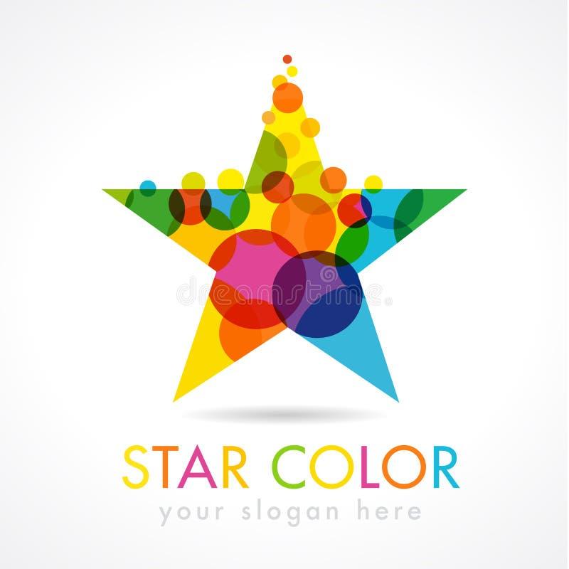 Logo dorato di forma della stella illustrazione vettoriale