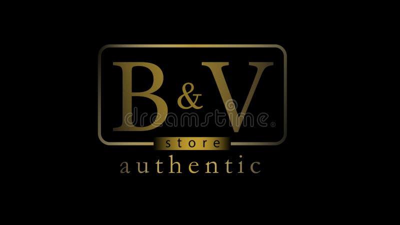 Logo dorato di lusso di progettazione del deposito fotografie stock libere da diritti