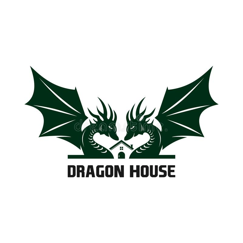 The logo of the dragon house royalty free illustration