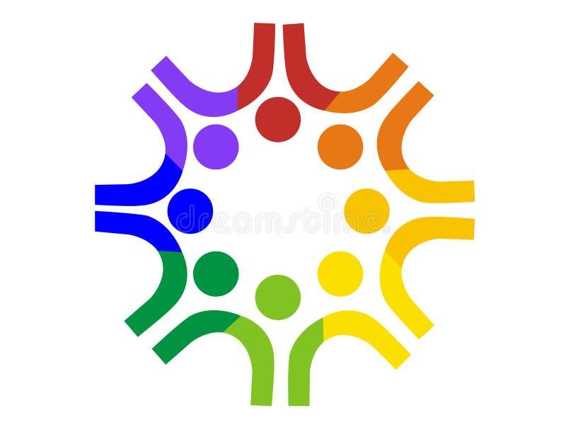 logo drużyn ludzie ilustracja wektor