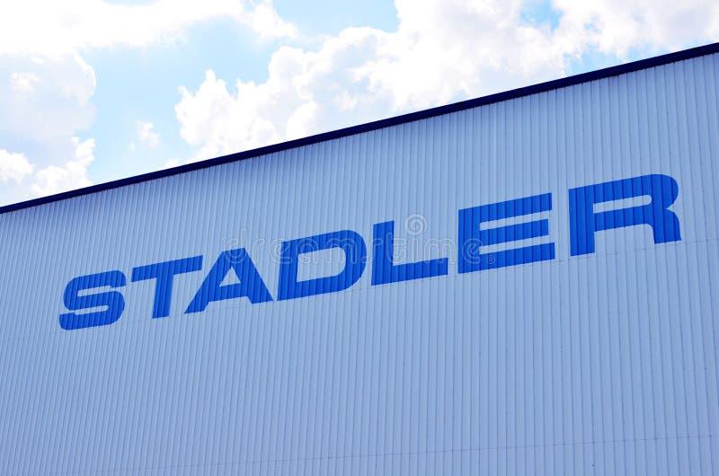 Logo du fabricant suisse Stadler de véhicule de rail image stock