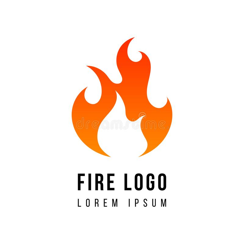 Logo du feu blanc illustration stock