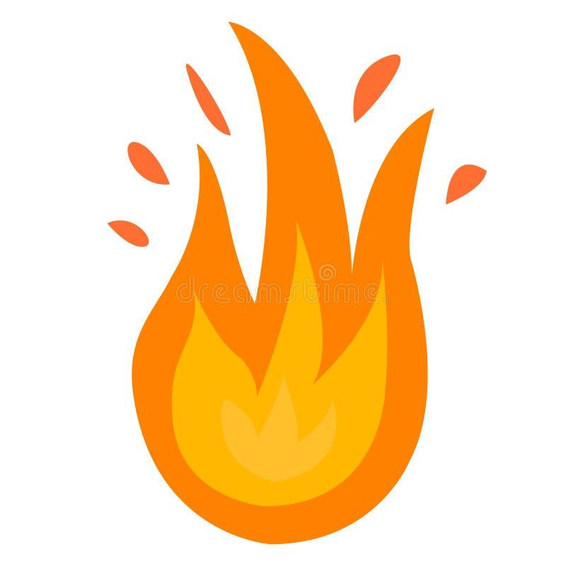 logo du feu Le feu rouge et jaune illustration stock