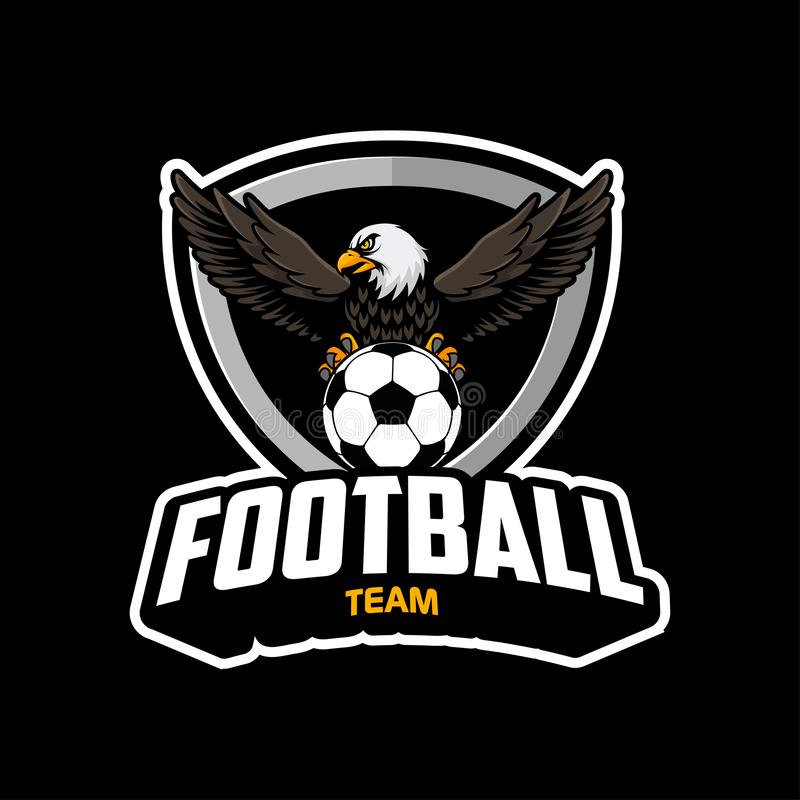 Logo du football avec le vecteur d'illustration d'aigle illustration libre de droits