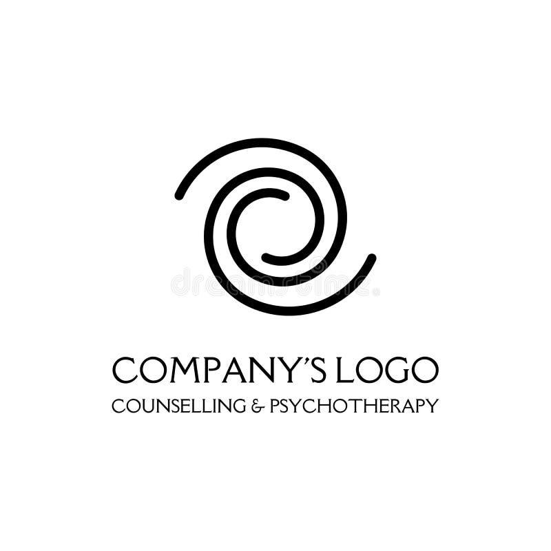 Logo - due spirali - un simbolo di interazione, di nuove idee, di sviluppo, del chiarimento e della saggezza royalty illustrazione gratis
