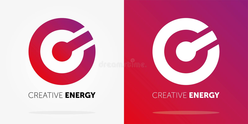 Logo dynamique d'énergie créative avec le gradient Conception abstraite de logo Logo cr?ateur illustration stock