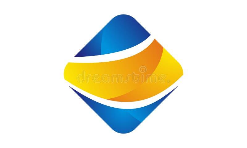 Logo dynamique d'affaires de barre illustration libre de droits