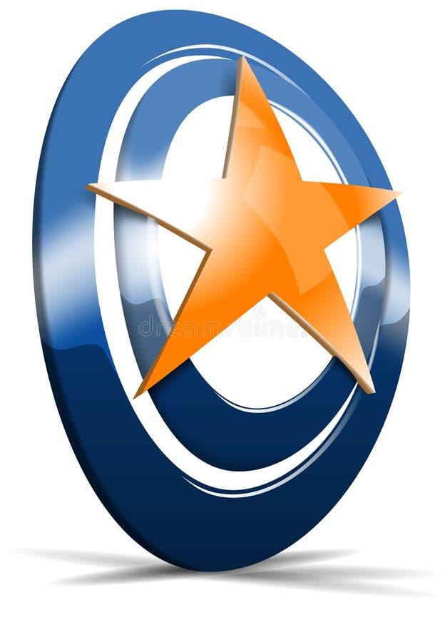 Logo dynamique du vecteur 3d illustration stock