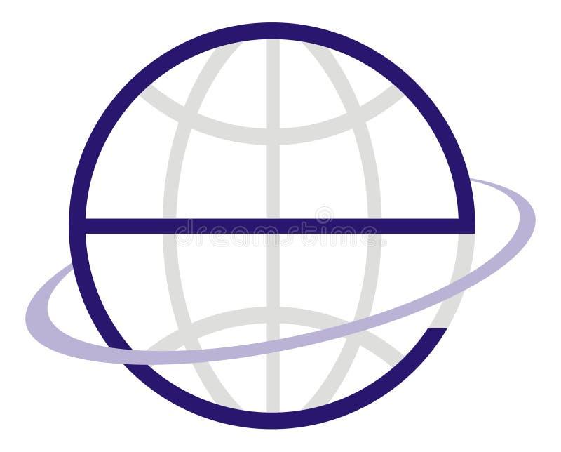 Logo E Globe royalty free illustration