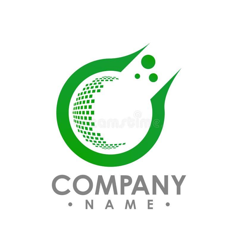 Logo e modello per lo studio creativo, medico, Ch del biglietto da visita illustrazione di stock