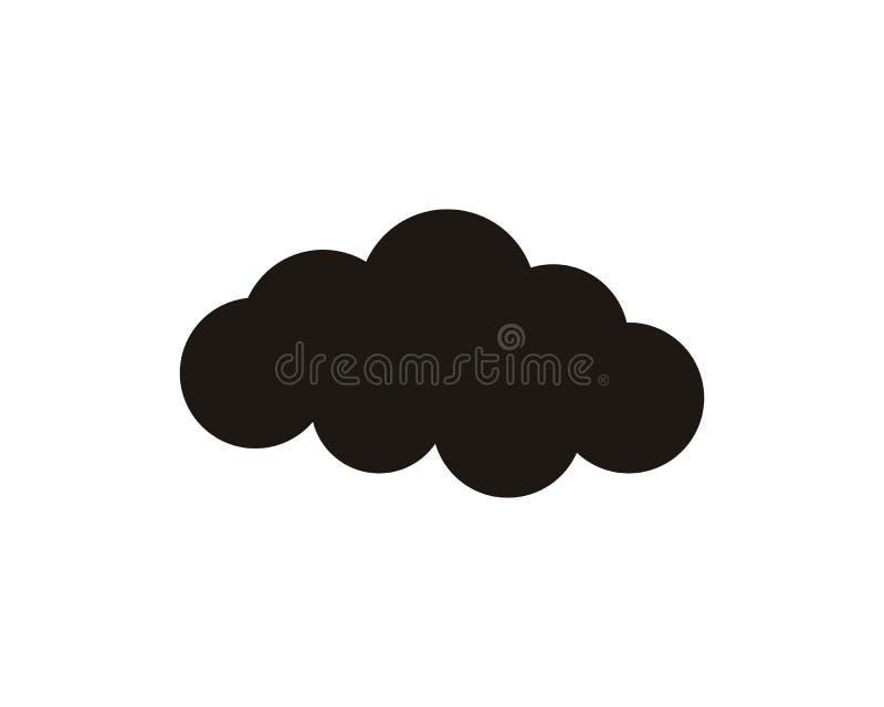 Logo e simboli di dati dei server della nuvola illustrazione di stock
