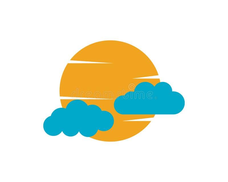 Logo e simboli di dati dei server della nuvola illustrazione vettoriale