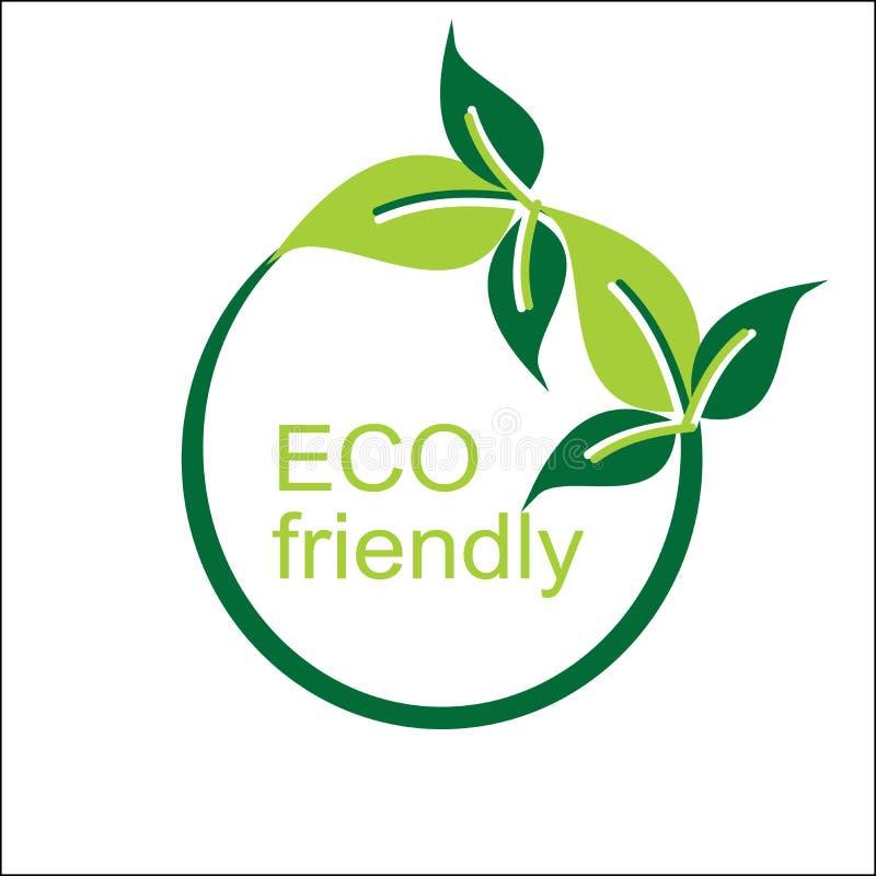 Logo e simbolo amichevoli di eco di vettore immagini stock libere da diritti