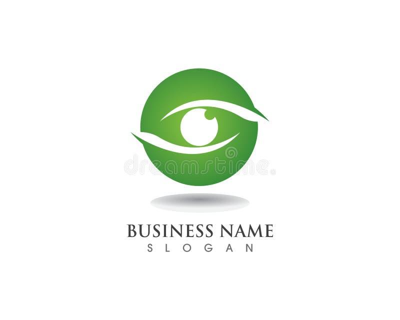 Logo e simbolo di cura dell'occhio illustrazione di stock