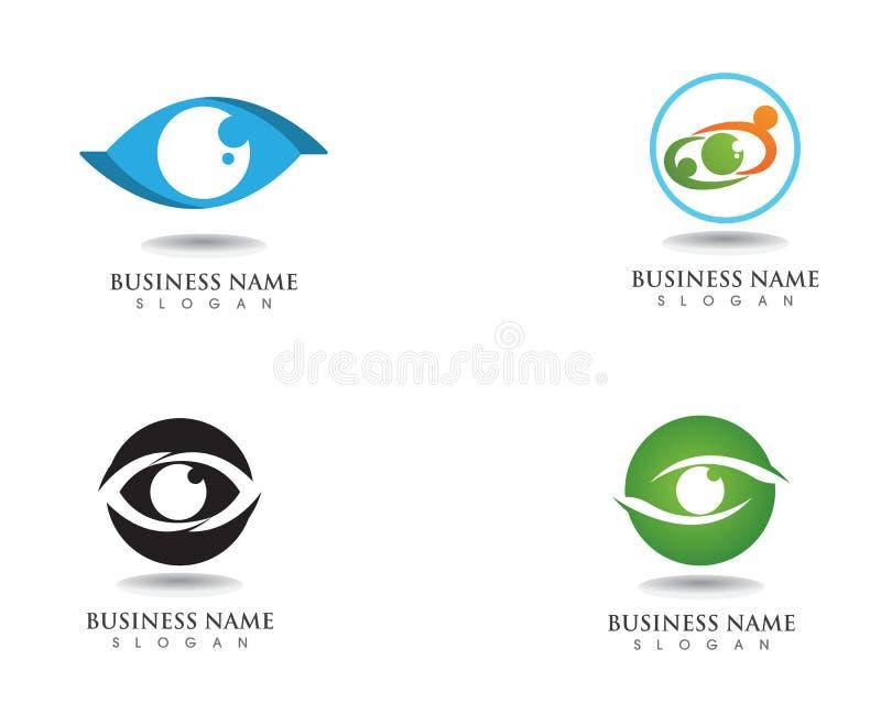 Logo e simbolo di cura dell'occhio royalty illustrazione gratis