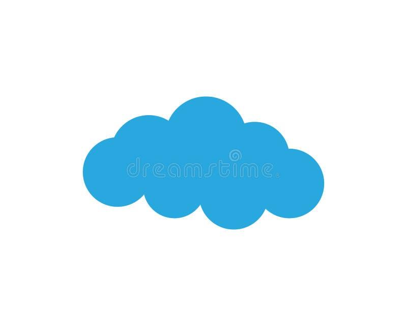 Logo e simbolo di dati dei server della nuvola illustrazione vettoriale