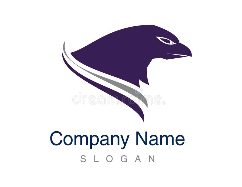 Abstract concept of a eagle head logo royalty free illustration