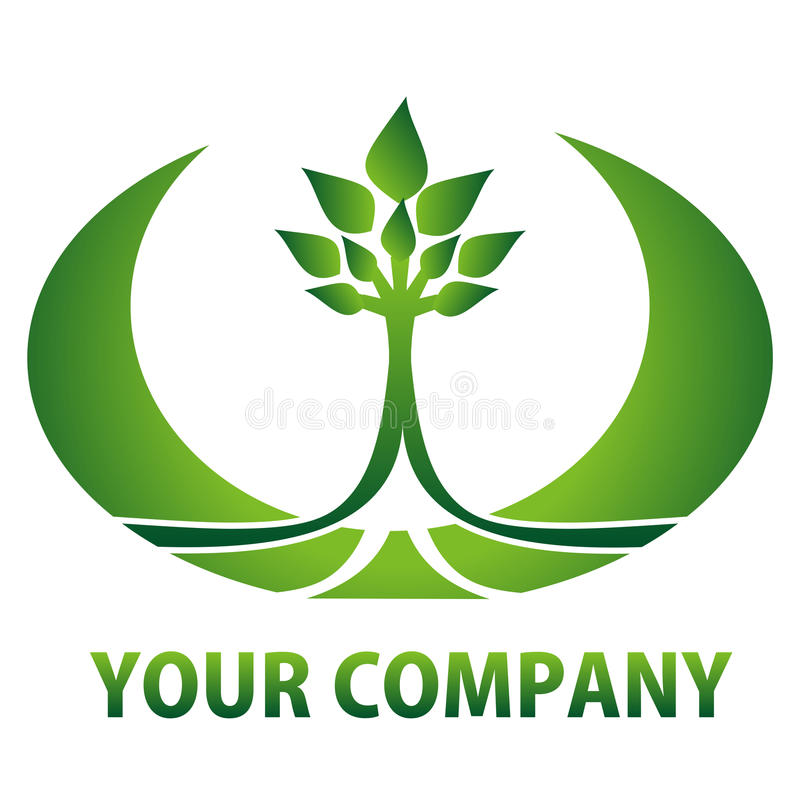 Logo eco_company stock illustration