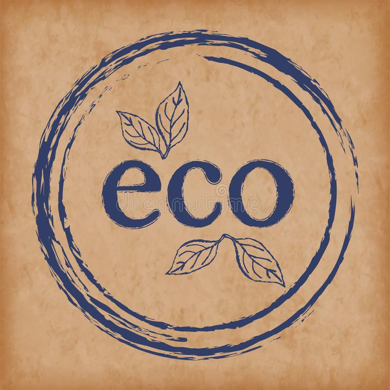 Logo eco products. Seals / stamps for packaging and design of organic products. Eps10 Vector vector illustration