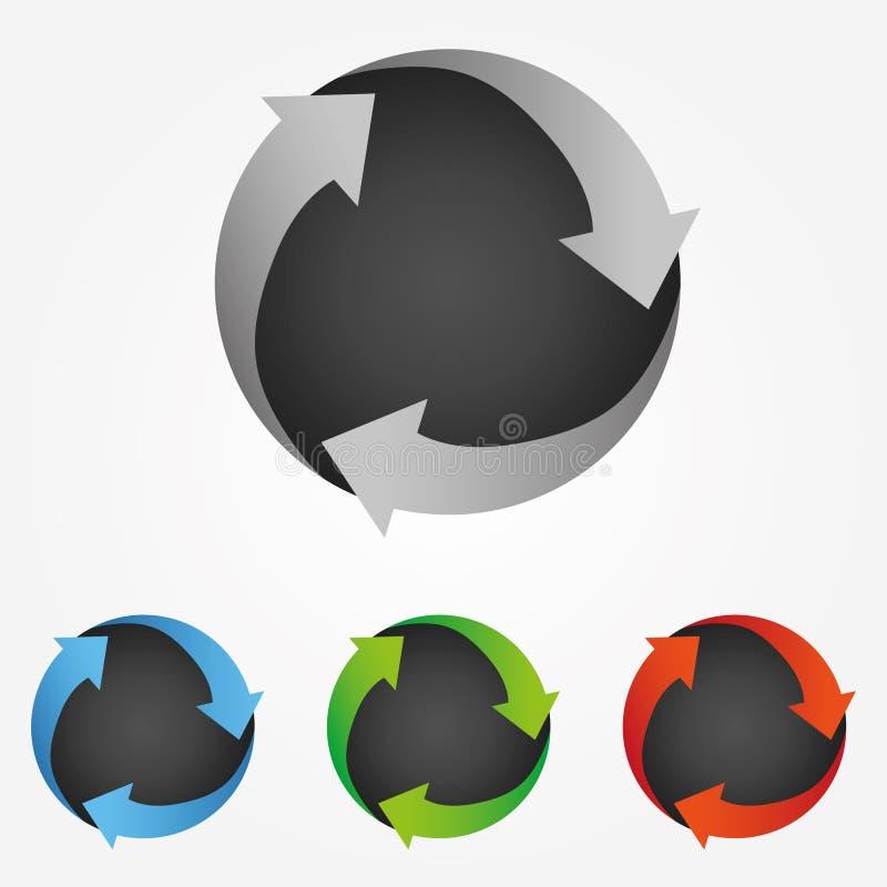 Logo economico verde moderno Icona aggiornamento app Illustrazione vettoriale royalty illustrazione gratis