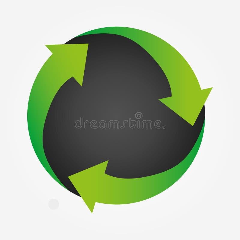 Logo economico verde moderno Icona aggiornamento app Illustrazione vettoriale illustrazione vettoriale