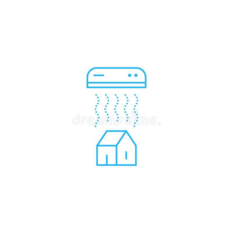 Logo ed icona lineari del condizionamento d'aria illustrazione di stock