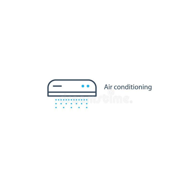 Logo ed icona lineari del condizionamento d'aria royalty illustrazione gratis