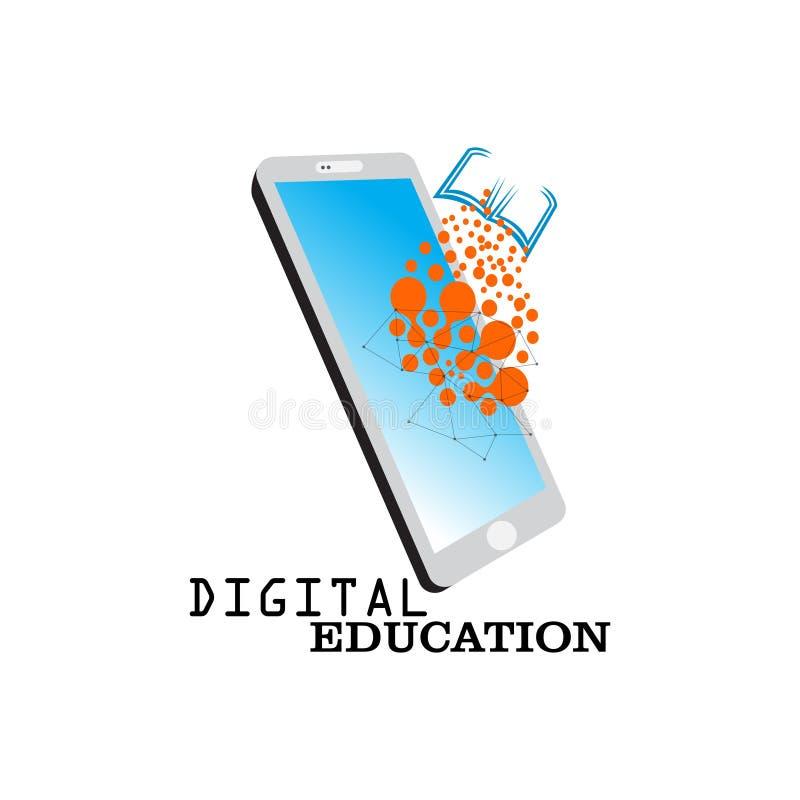logo edukacji online, kurs wideo, społeczność globalna, przygotowanie egzaminu, nauka na odległość, nauka, koncepcja stypend ilustracji