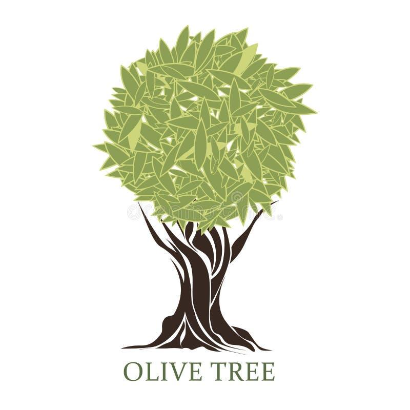 Logo eines stilisierten Olivenbaums vektor abbildung