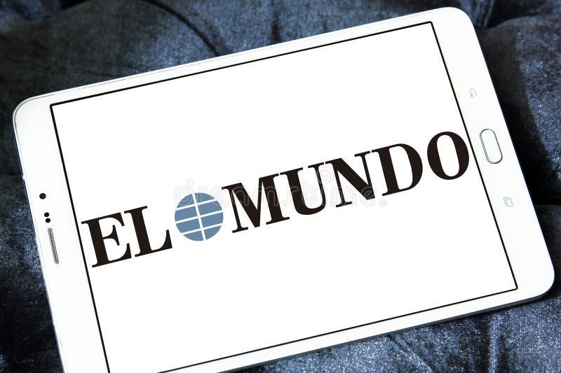 El Mundo newspaper logo. Logo of El Mundo newspaper on samsung tablet. El Mundo is the second largest printed daily newspaper in Spain stock photography