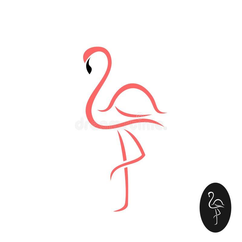 Logo elegante del fenicottero illustrazione vettoriale