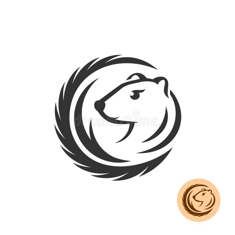 Logo elegante del visone royalty illustrazione gratis