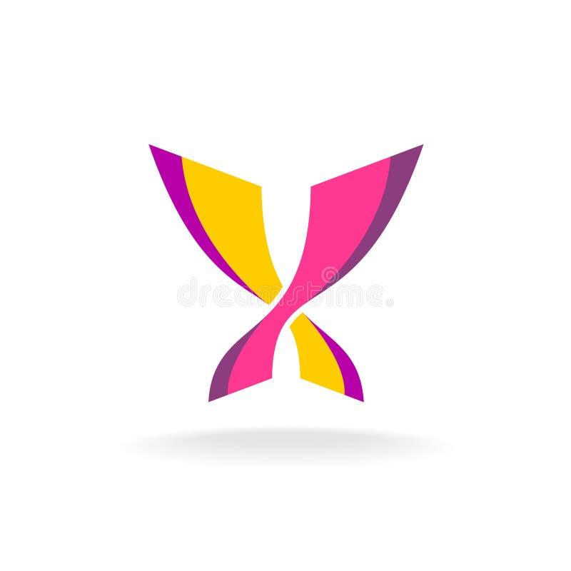 Logo elegante di colori luminosi della farfalla illustrazione vettoriale