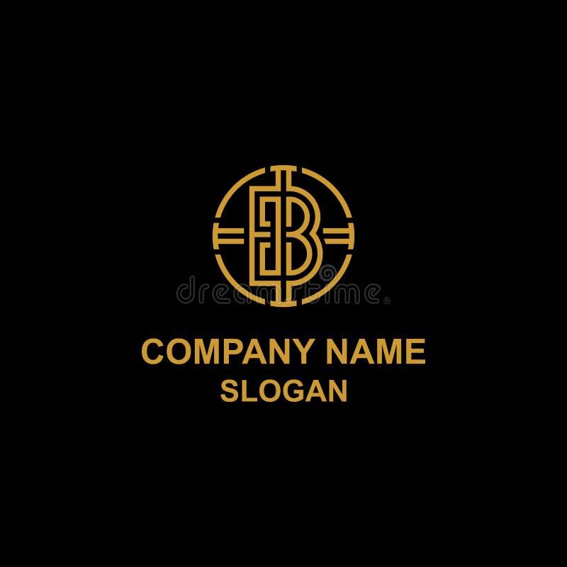 Logo elegante di iniziale della lettera di B illustrazione vettoriale